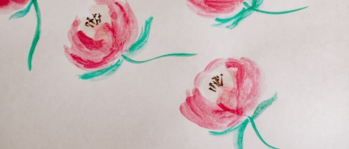 Painting with Watercolors - Peony Flowers