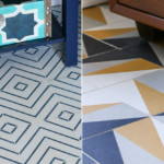 lili cement tiles in two bathrooms