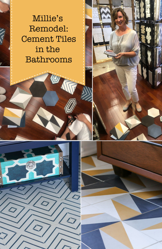 Millie's Remodel: Cement Tiles in the Bathrooms