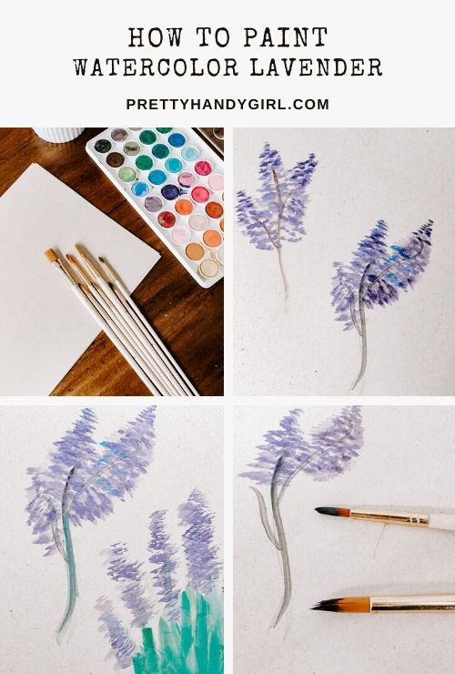 How to Paint Watercolor Lavender