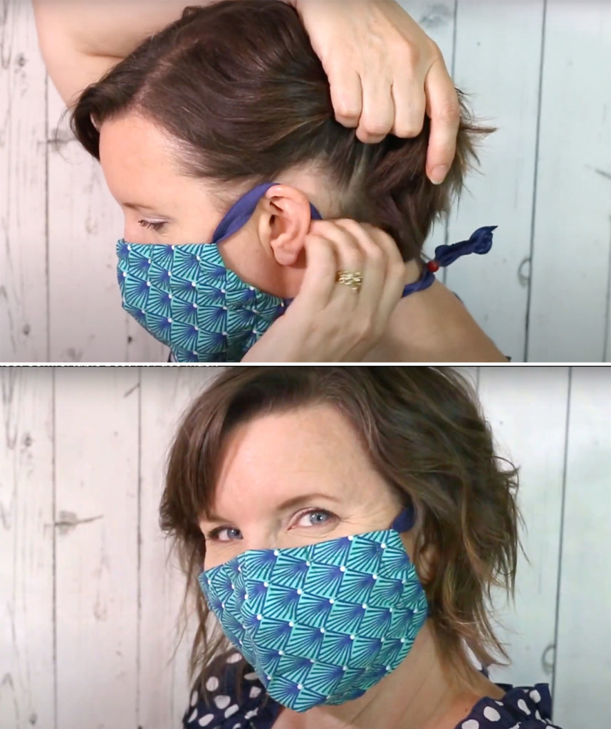 no more bad hair day with face mask straps