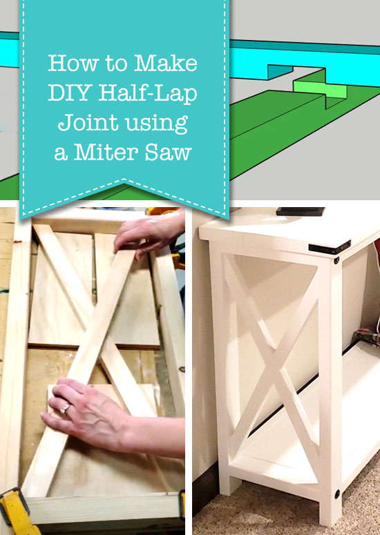 How to Make a DIY Half Lap Joint using Miter Saw