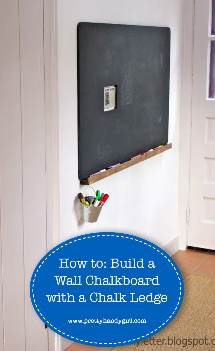 How to easily add a chalk ledge to your chalkboard | Pretty Handy Girl