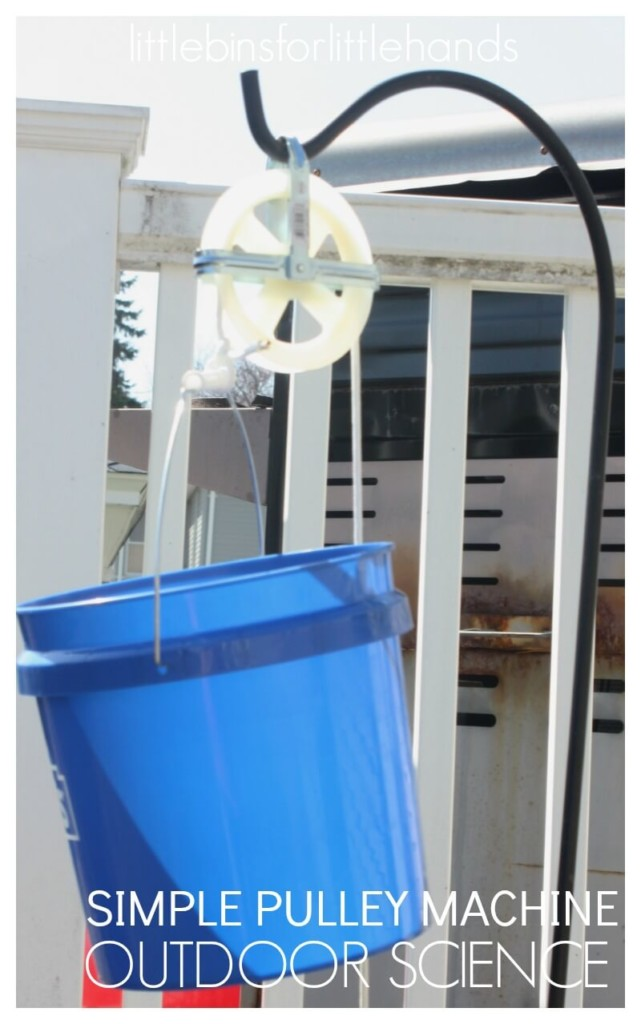 Bucket on a Pulley for contactless trick or treating