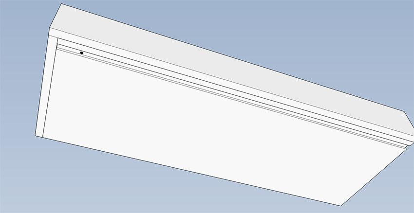 hole in bottom channel of shelf