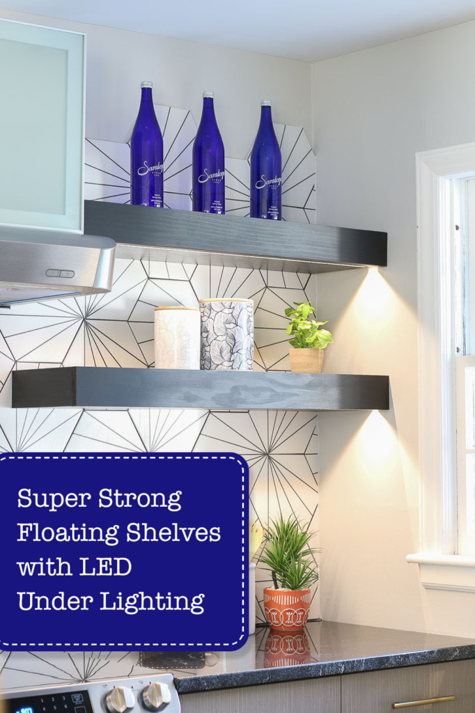 How to Build Super Strong Floating Shelves with LED Under Lighting