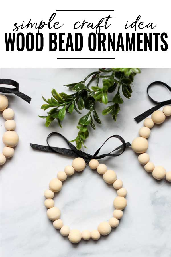 wooden bead ornaments pin image