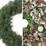 half cheap wreath, half expensive looking wreath