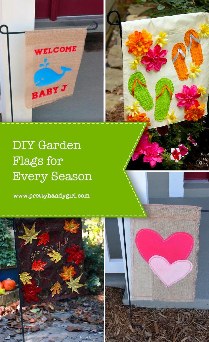 DIY Garden Flags for Every Season | Pretty Handy Girl