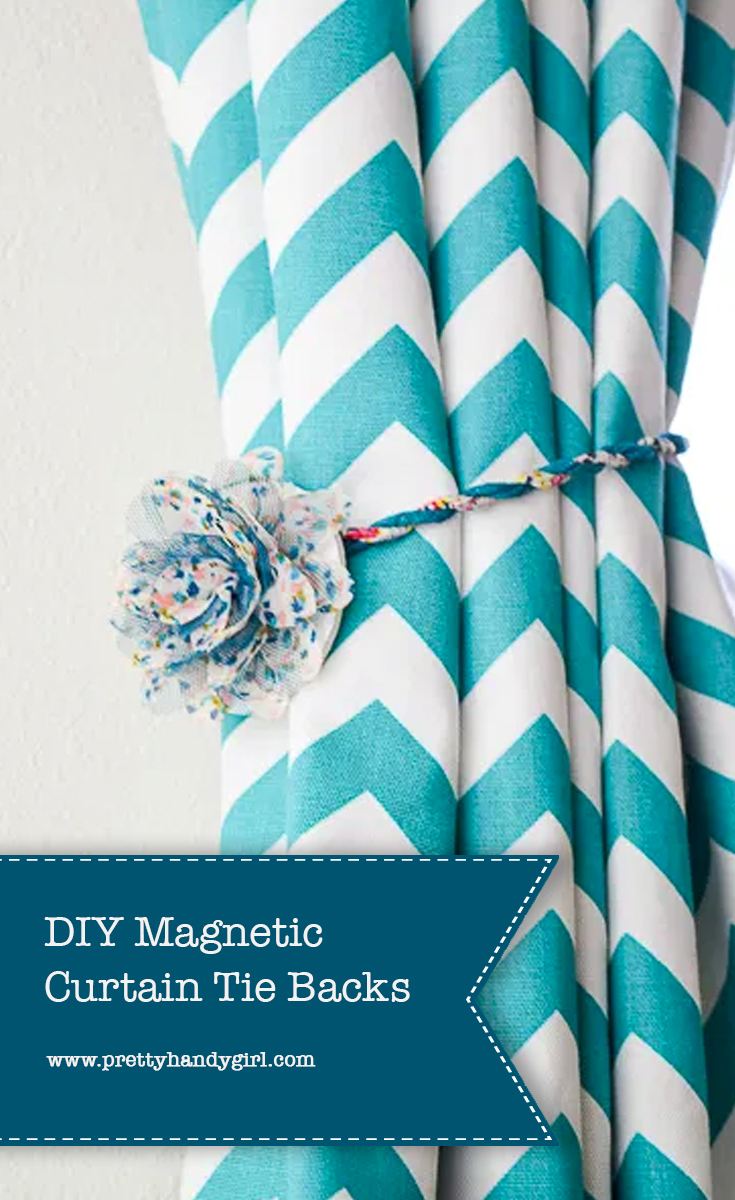 Diy Magnetic Curtain Tie Backs Pretty