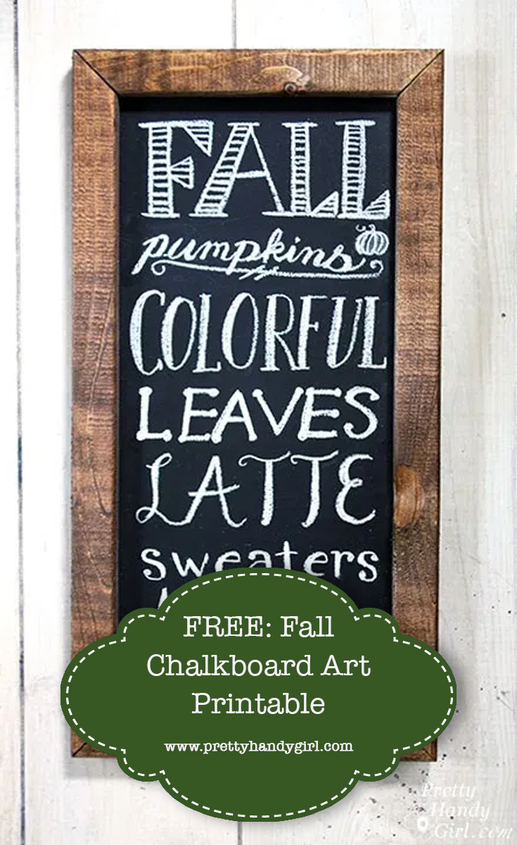 FREE: Fall Chalkboard Art Printable | Pretty Handy Girl