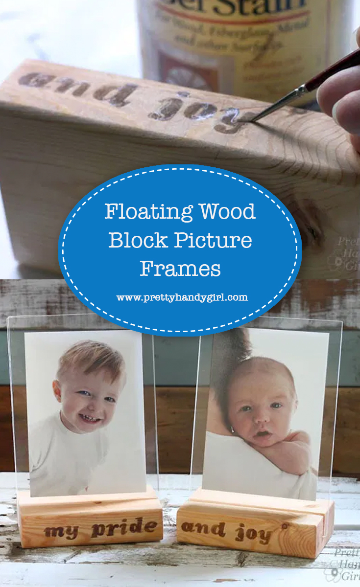 Floating Wood Block Picture Frames | Pretty Handy Girl