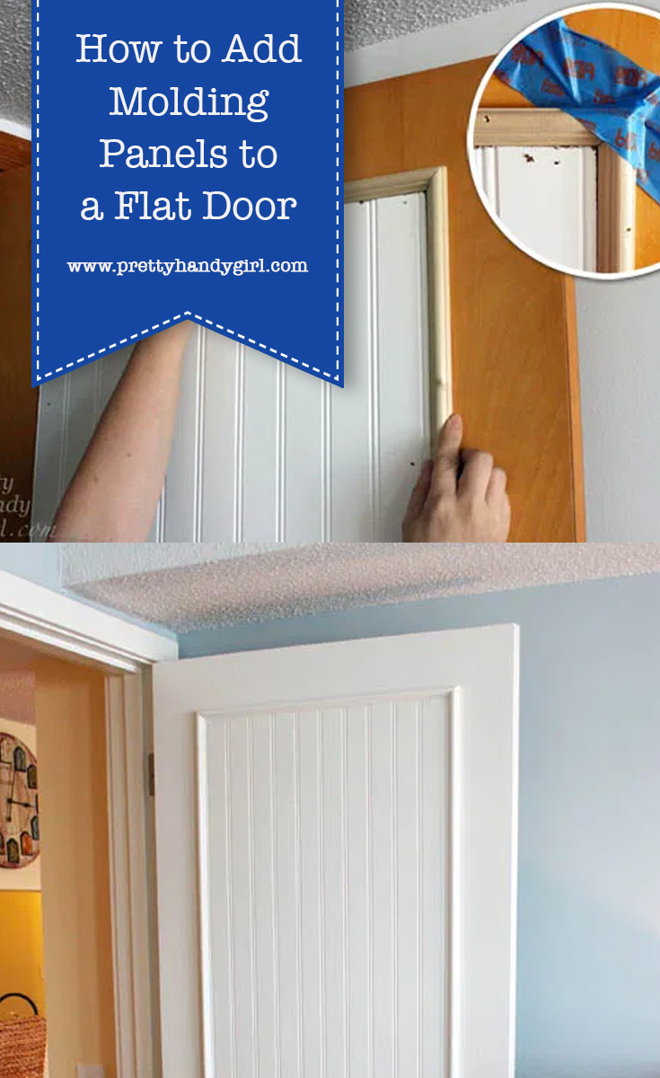 How to Add Molding Panels to a Flat Door | Pretty Handy Girl