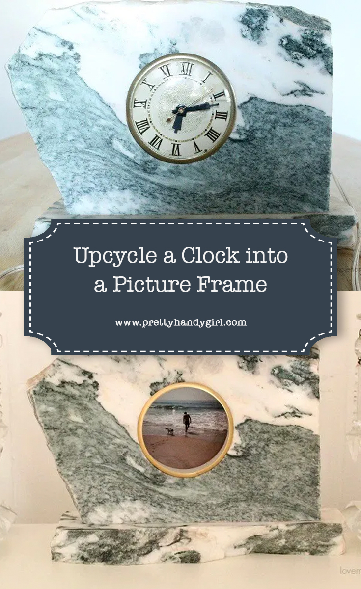 Upcycle a Clock into a Picture Frame   Pretty Handy Girl