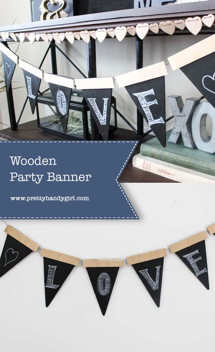 DIY Wooden Party Banner | Pretty Handy Girl