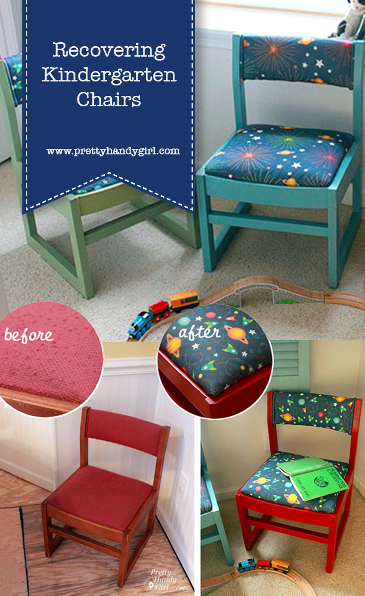 How to Recover Kindergarten Chairs | Pretty Handy Girl