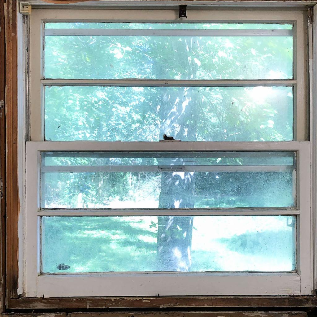 old original window in millie's remodel main bathroom
