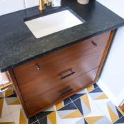 Turning a Mid-Century Modern Dresser into a Bathroom Vanity